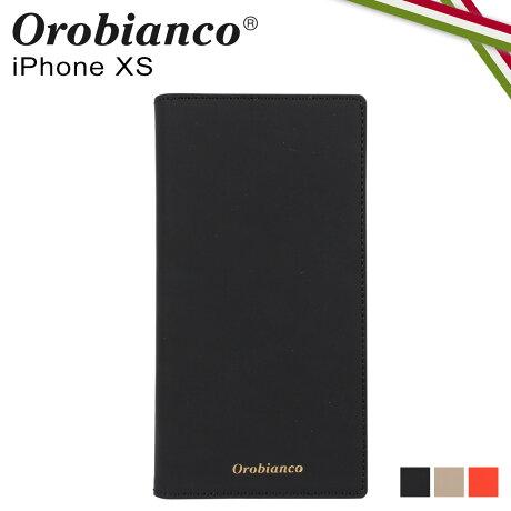 オロビアンコ Orobianco iPhoneXS ケース スマホ 携帯 手帳型 アイフォン メンズ レディース GOMMA BOOK TYPE SMARTPHONE CASE ブラック グレージュ オレンジ 黒 ORIP-0007XS [予約 2/3 新入荷]