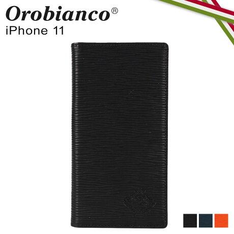 オロビアンコ Orobianco iPhone11 ケース スマホ 携帯 手帳型 アイフォン メンズ レディース ONDA BOOK TYPE SMARTPHONE CASE ブラック ネイビー オレンジ 黒 ORIP-0006-11 [予約 2/3 新入荷]
