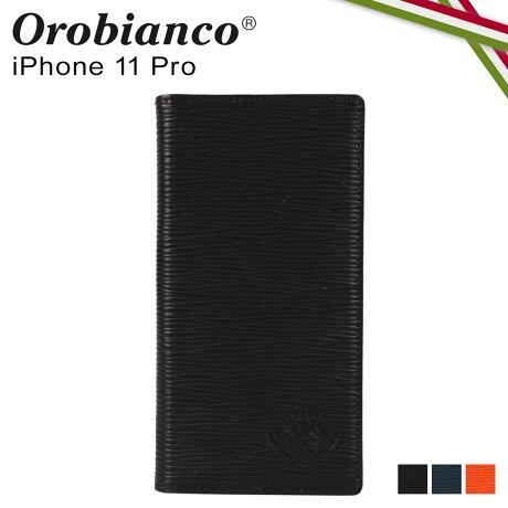 オロビアンコ Orobianco iPhone11 Pro ケース スマホ 携帯 手帳型 アイフォン メンズ レディース ONDA BOOK TYPE SMARTPHONE CASE ブラック ネイビー オレンジ 黒 ORIP-0006-11Pro [予約 2/3 新入荷]