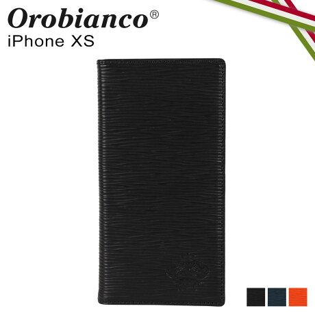 オロビアンコ Orobianco iPhoneXS ケース スマホ 携帯 手帳型 アイフォン メンズ レディース ONDA BOOK TYPE SMARTPHONE CASE ブラック ネイビー オレンジ 黒 ORIP-0006XS [予約 2/7 新入荷]