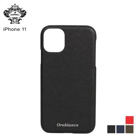 オロビアンコ Orobianco iPhone11 ケース スマホ 携帯 アイフォン メンズ レディース サフィアーノ調 PU LEATHER BACK CASE ブラック ネイビー カーキ レッド 黒 [予約 2/3 新入荷予定]