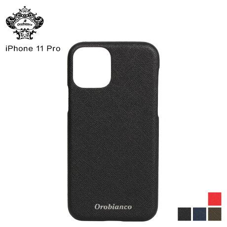 オロビアンコ Orobianco iPhone11 Pro ケース スマホ 携帯 アイフォン メンズ レディース サフィアーノ調 PU LEATHER BACK CASE ブラック ネイビー カーキ レッド 黒 [予約 2/3 新入荷予定]