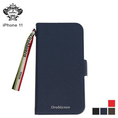 オロビアンコ Orobianco iPhone11 ケース スマホ 携帯 手帳型 アイフォン メンズ レディース サフィアーノ調 PU LEATHER BOOK TYPE CASE ブラック ネイビー カーキ レッド 黒 [予約 2/3 新入荷予定]