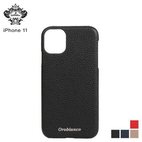 オロビアンコ Orobianco iPhone11 ケース スマホ 携帯 アイフォン メンズ レディース シュリンク PU LEATHER BACK CASE ブラック ネイビー グレージュ レッド 黒 [予約 2/3 新入荷予定]
