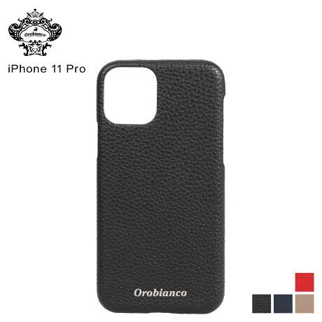オロビアンコ Orobianco iPhone11 Pro ケース スマホ 携帯 アイフォン メンズ レディース シュリンク PU LEATHER BACK CASE ブラック ネイビー グレージュ レッド 黒 [予約 2/3 新入荷予定]
