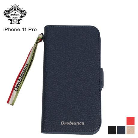 オロビアンコ Orobianco iPhone11 Pro ケース スマホ 携帯 アイフォン メンズ レディース シュリンク PU LEATHER BOOK TYPE CASE ブラック ネイビー グレージュ レッド 黒 [予約 2/3 新入荷予定]