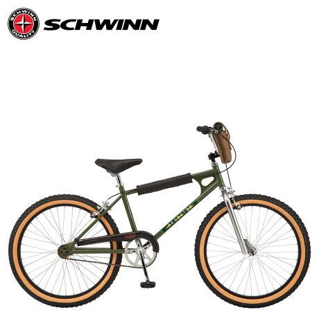 SCHWINN シュウィン ストレンジャー シングス ルーカス BMX 自転車 24インチ ストリート フリースタイル STRANGER THINGS MAX グリーン S3042WMDS [予約 2/14 新入荷予定]