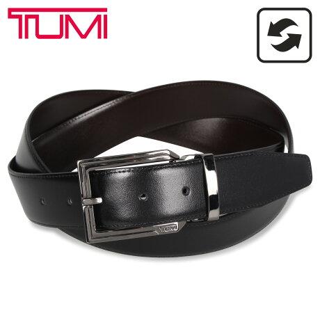 TUMI トゥミ ベルト レザーベルト メンズ 本革 リバーシブル フランス産 REVERSIBLE BELT ブラック ブラウン 黒 1391257 [予約 1/27 新入荷予定]