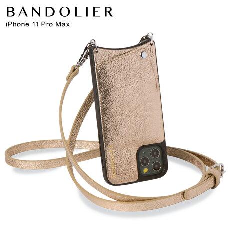 バンドリヤー BANDOLIER エマ iPhone11 Pro MAX ケース スマホ 携帯 ショルダー アイフォン メンズ レディース レザー EMMA CHAMPAGNE GOLD ゴールド 10EMM [2/14 新入荷]