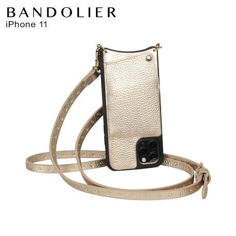 BANDOLIER バンドリヤー iPhone11 ケース スマホ 携帯 ショルダー アイフォン メンズ レディース レザー NICOLE RICH GOLD ゴールド 10NIC [2/3 新入荷]