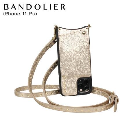 BANDOLIER バンドリヤー iPhone11 Proケース スマホ 携帯 ショルダー アイフォン メンズ レディース レザー NICOLE RICH GOLD ゴールド 10NIC [2/3 新入荷]