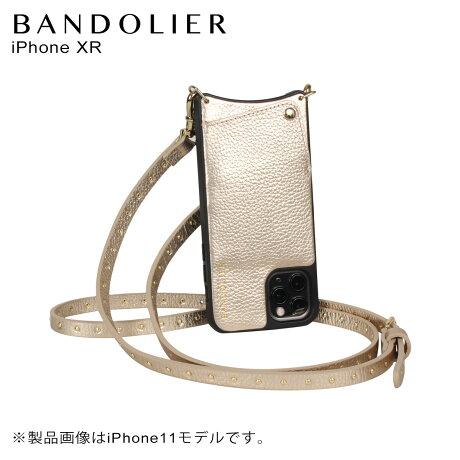 BANDOLIER バンドリヤー iPhone XR ケース スマホ 携帯 ショルダー アイフォン メンズ レディース レザー NICOLE RICH GOLD ゴールド 10NIC [2/3 新入荷]