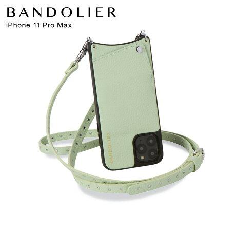 バンドリヤー BANDOLIER ニコル iPhone11 Pro MAX ケース スマホ 携帯 ショルダー アイフォン メンズ レディース レザー NICOLE MIST GREEN グリーン 10NIC [2/14 新入荷]