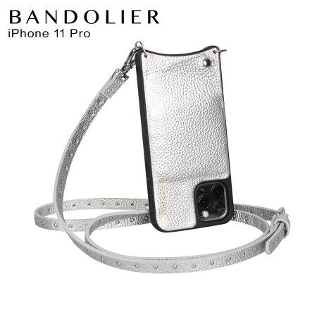 BANDOLIER バンドリヤー iPhone11 Proケース スマホ 携帯 ショルダー アイフォン メンズ レディース レザー NICOLE RICH SILVER シルバー 10NIC [2/3 新入荷]
