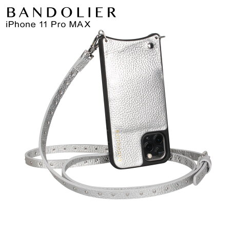 BANDOLIER バンドリヤー iPhone11 Pro MAX ケース スマホ 携帯 ショルダー アイフォン メンズ レディース レザー NICOLE RICH SILVER シルバー 10NIC [2/3 新入荷]