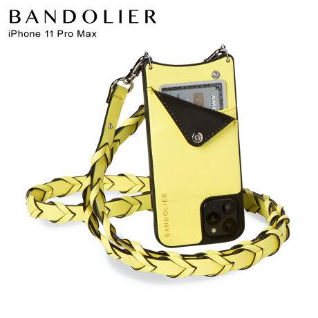 BANDOLIER バンドリヤー iPhone11 Pro MAX ケース スマホ 携帯 ショルダー アイフォン メンズ レディース レザー ZOEY YELLOW イエロー 10ZOE [2/3 新入荷]