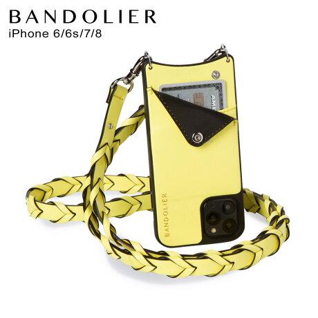 BANDOLIER バンドリヤー iPhone 8 iPhone 7 6s ケース スマホ 携帯 ショルダー アイフォン メンズ レディース レザー ZOEY YELLOW イエロー 10ZOE [2/3 新入荷]