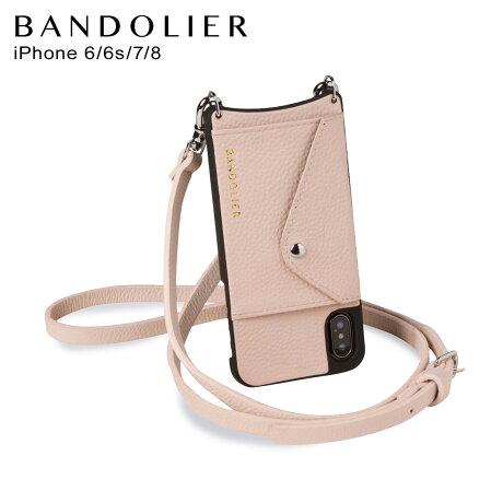 BANDOLIER バンドリヤー iPhone 8 iPhone 7 6s ケース スマホ 携帯 ショルダー アイフォン メンズ レディース レザー DONNA SIDE SLOT PINK ピンク 14DON [2/3 新入荷]