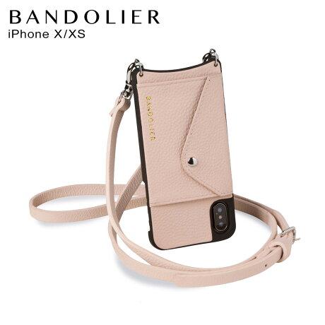 BANDOLIER バンドリヤー iPhoneXS X ケース スマホ 携帯 ショルダー アイフォン レザー メンズ レディース レザー DONNA SIDE SLOT PINK ピンク 14DON [2/3 新入荷]