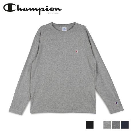 チャンピオン Champion Tシャツ 長袖 メンズ レディース ロンT カットソー LONG SLEEVE T-SHIRT ブラック ホワイト グレー ネイビー 黒 白 C3-P401 [2/6 新入荷]