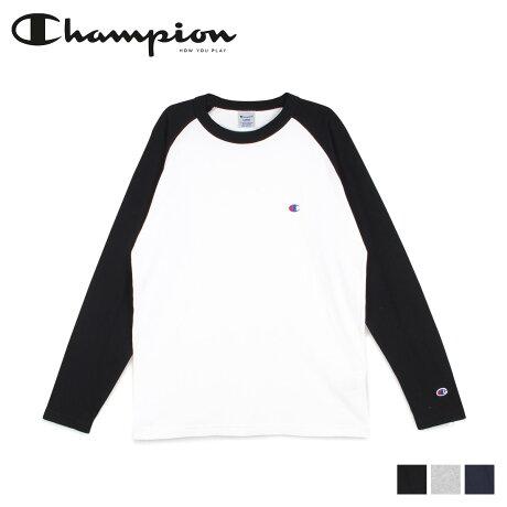 チャンピオン Champion Tシャツ 長袖 メンズ レディース ラグラン ロンT カットソー RAGLAN LONG SLEEVE T-SHIRT ブラック グレー ネイビー 黒 C3-P402 [2/6 新入荷]