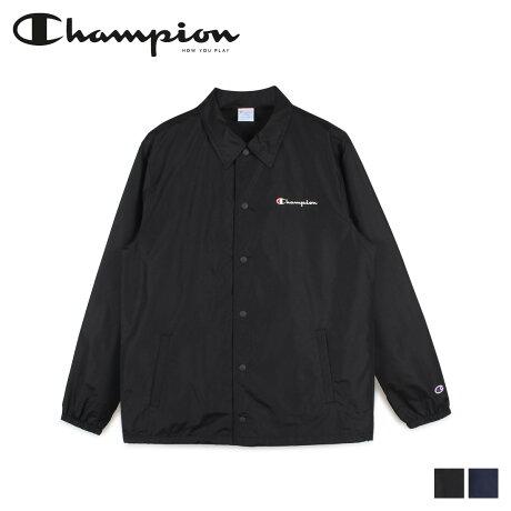 チャンピオン Champion ジャケット コーチジャケット メンズ COACH JACKET ブラック ネイビー 黒 C3-R601 [2/6 新入荷]