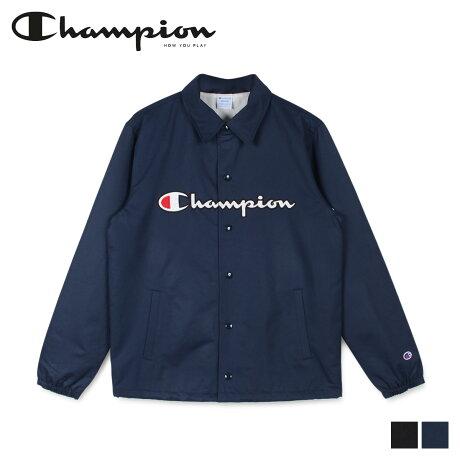 チャンピオン Champion ジャケット コーチジャケット メンズ COACH JACKET ブラック ネイビー 黒 C3-R608 [2/14 新入荷]