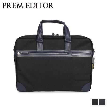 プレム エディター PREM-EDITOR バッグ ビジネスバッグ ショルダーバッグ メンズ 6L BRIEF BAG ブラック ネイビー 黒 02752 [2/17 新入荷]