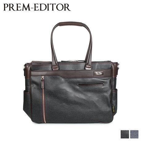 プレム エディター PREM-EDITOR バッグ トートバッグ ショルダーバッグ メンズ 13L TOTE BAG ブラック ブルー 黒 02771 [2/17 新入荷]