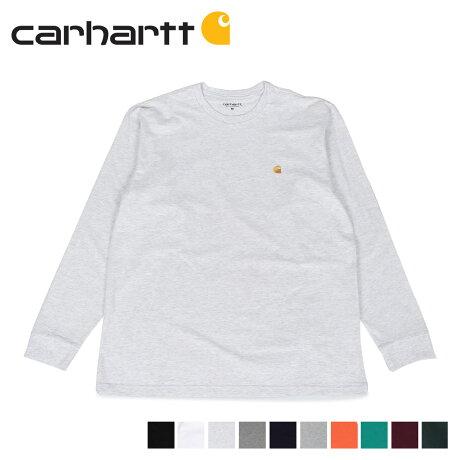 carhartt WIP カーハート Tシャツ メンズ 長袖 ロンT 無地 LS CHASE T-SHIRT ブラック ホワイト ライト グレー ダークグレー 黒 白 I026392