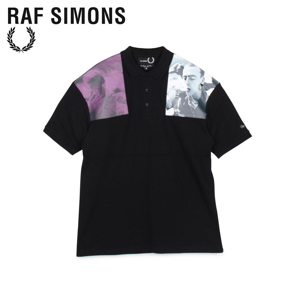 メンズウェア, ポロシャツ 1000OFF FRED PERRY RAF SIMONS PRINTED PATCH POLO SM8120