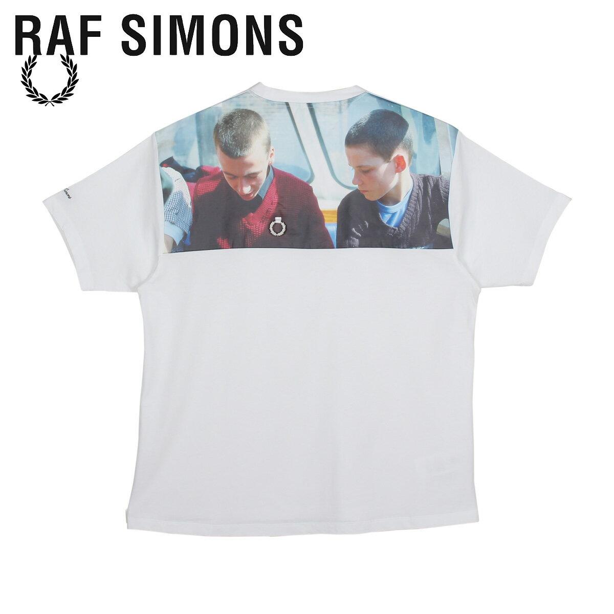 トップス, Tシャツ・カットソー 1000OFF FRED PERRY RAF SIMONS T PRINT YOKE T-SHIRT SM8135