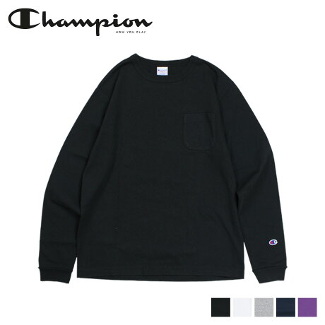 Champion チャンピオン Tシャツ 長袖 メンズ レディース LONG SLEEVE T-SHIRT ブラック ホワイト グレー ネイビー 黒 白 C5-P401