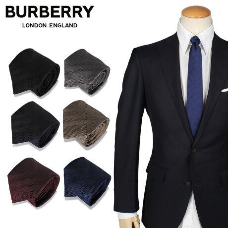 BURBERRY バーバリー ネクタイ メンズ シルク ビジネス 結婚式 TIE ブラック グレー ネイビー ベージュ レッド ブルー 黒