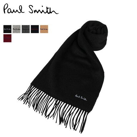 Paul Smith ポールスミス マフラー メンズ レディース MUFFLER ウール ブラック グレー チャコールグレー ネイビー ベージュ ワイン レッド 黒 933D-AS04
