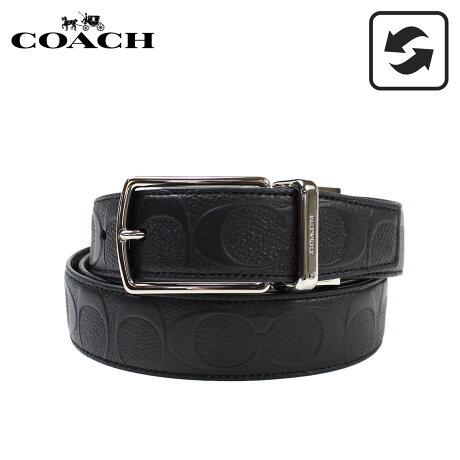 コーチ COACH ベルト メンズ レザー リバーシブル 革 F55158 ブラック