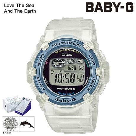 【SOLD OUT】 カシオ CASIO BABY-G 腕時計 BGR-3008K-7JR イルカクジラ 2018 イルクジ クリア コラボ レディース [6/8 新入荷]