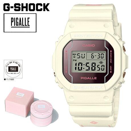 カシオ CASIO G-SHOCK 腕時計 ピガール DW 5600PGW 7JR PIGALLE ジーショック G-ショック Gショック メンズ レディース ホワイト [9/5 再入荷]