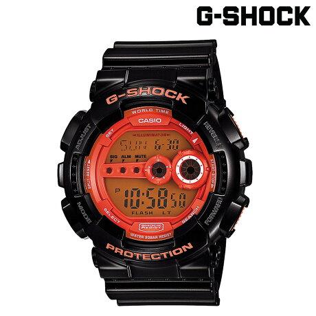 カシオ CASIO G-SHOCK 腕時計 GD-100HC-1JF HYPER COLORS ジーショック Gショック G-ショック ブラック メンズ レディース [6/30 再入荷]