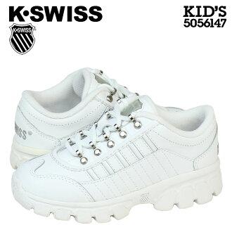 [最大2,016日圆OFF優惠券]情况椅子K-SWISS小孩CLASSIC SNEAKER運動鞋古典5056147白[50]