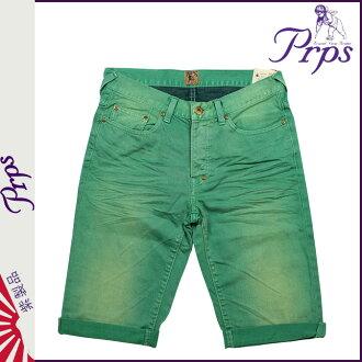 ピーアールピーエス PRPS denim shorts RAMBLER SKINNY FIT DENIM SHORT PANTS SHORTS shorts shorts short bread shorts cotton men's 2013 new