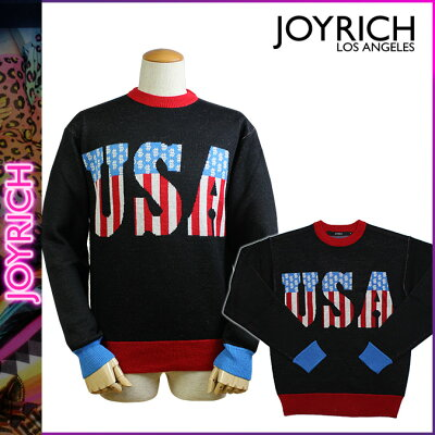 ポイント2倍 ジョイリッチ JOYRICH ニット セーター [ ブラック ] U1338PO SWEATER メンズ レディース