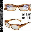 アランミクリ alain mikli メガネ 眼鏡 ブラウン セルフレーム メンズ レディース [N50]