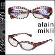 アランミクリ alain mikli メガネ 眼鏡 セルフレーム AL1237-3036 レッド ブラック メンズ レディース