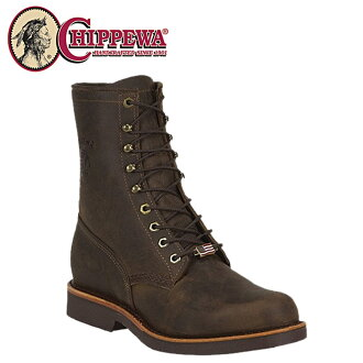 Chippewa CHIPPEWA 8 inch lace-up boots 20070 8 CHOCOLATE APACHE LACER 2 wise leather men's