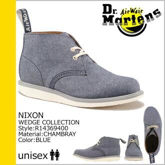 [SOLD OUT] Dr. Martens Dr.Martens 2 Hall desert boots [blue] R14369400 NIXON fabric men's [regular] ★ ★