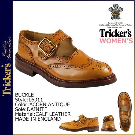 トリッカーズ Tricker's レディース ウイングチップ シューズ BUCKLE L6011 4ワイズ [5/24 追加入荷]