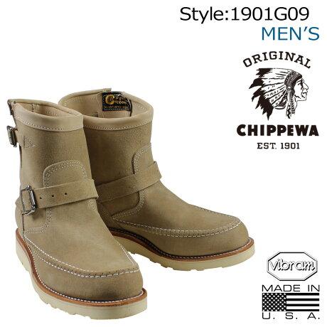 チペワ CHIPPEWA ブーツ 7インチ ハイランダー エンジニア 7INCH HIGHLANDER ENGINEER 1901G09 Eワイズ サンド メンズ [予約商品 2/10頃入荷予定 追加入荷]