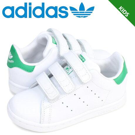 アディダス オリジナルス adidas Originals スタンスミス ベルクロ スニーカー キッズ ベビー STAN SMITH CF I ホワイト 白 BZ0520 [予約 2/26 追加入荷予定]