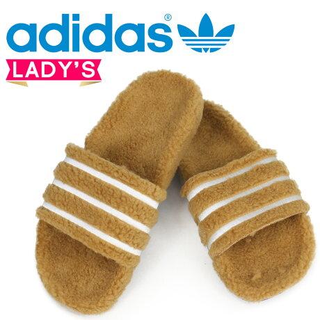 アディダス アディレッタ adidas Originals レディース サンダル シャワーサンダル ADILETTE W CQ2233 ブラウン オリジナルス [3/2 追加入荷]